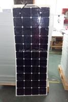 20% efficiency140W semi flexible bendable solar panel for boats, caravans