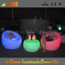 Durable PE LED Glow Furniture , Led Bar Chairs and Tables With Rechargeable Battery