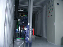 PLC Control Containerized Refrigeration System Water Cooling 20 Tons Flake Ice Making Machine for Fish Industry