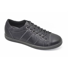 black color nubuck upper hand sewing hard toe and soft cut mens leather safety jogger shoes