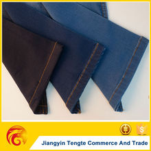 Blue and Black cotton and polyester denim fabric manufacture