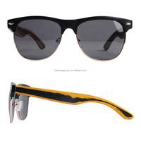 Half frame bamboo sunglasses,2015 new model bamboo sunglasses,bamboo polarized sunglasses in stock BP5501-1