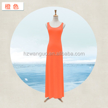 pure color long dress t-shirt dress garment stock lot