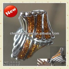 China Stone Stainless Steel Rings wiyh GOLD Stones