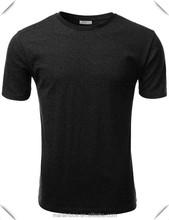 Cheap Wholesale Mens Tri-Blend 50% Polyester 25% Cotton 25% Rayon Black Plain O Neck Short Sleeve T Shirt