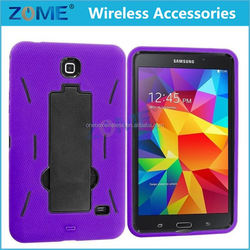China For Samsung Galaxy Tab 4 8.0 With Vertical Stand Cheap Dual Layer Pc + Silicone Armor Tablets Cases