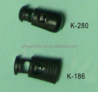 cup shape cord plastic stoppers with metal spring