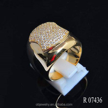 Pure 18K gold plated Male Ring jewelry Cheap Wholesale Jewelry
