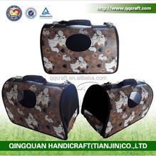 QQPET Pet Supplier Best Price Pet Carrier Bags Dog Carrier Bags Paw Printed Pet Carrier
