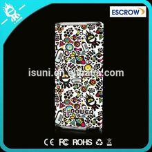 USP/FEDEX/DHL express leather cover customized portable power bank for smartphones