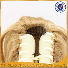 China manufacturer high quality fashion clip claw synthetic hair ponytail