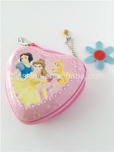Hot sale custom printing metal coin purse , promotional heart shape coin purse