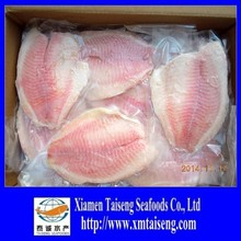 frozen fish iqf tilapia fillets with no skin