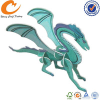 Dragon Plastic Puzzle Card DIY Card Animal 3d puzzle card