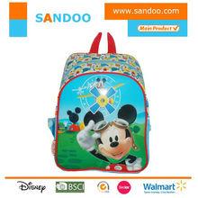 nombre de marca de dibujos animados lindo niños bolso de escuela para los niños