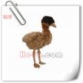 nuevo diseño caliente venta de pájaro marrón de peluche de felpa animales volando juguete