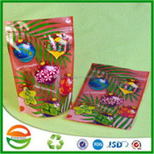 High grade christmas tree zipper plastic toy packaging bag