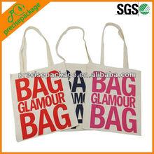 HOT Cotton small reusable shopping bag letter type Logo Print Shopper Bag