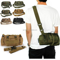 Retro Design 7 Colors Utility Tactical Waist Pack Pouch Military Camping Hiking Outdoor Sport Adjustable Nylon Waterproof Bag