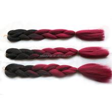 Ombre Kanekalon Braiding Hair Kanekalon Jumbo Braid Hair Two Tone Multi+Highlighted Color Hair Extensions 100g/Piece