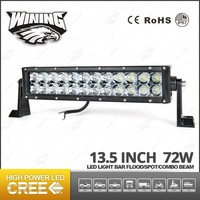 13.5Inch Cre e 3D Projector Reflector Lens 72w Curved Led Light Bar For Offoad ,4X4 ATV Led Light Bar