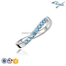 316L Fashion Stainless steel BU Diamond Ring