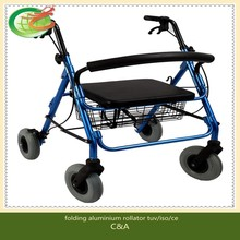 Top number one best seller aluminium rollator with tuv/iso/ce certified