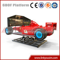 F1 playground car motion game, luxury car racing game simulator in mall