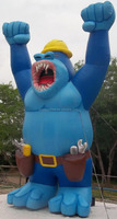 inflatable replica giant blue gorilla , large Inflatable Animals from audiinflatables