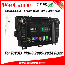 Wecaro Android 4.4.4 car stereo 2 din for toyota prius radio 1080p right hand 2009 - 2014