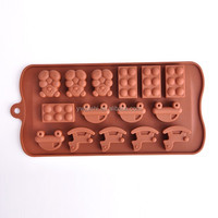 Cute bear and small car shaped professional chocolate molds