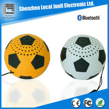 mini soccer bluetooth speakers for mobile phone/ ipad/ipod