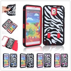 Wholesale 3 in 1 Silicone Plastic fancy cover for samsung galaxy note 3 case