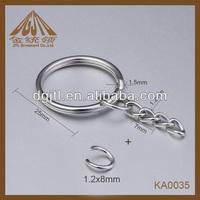 Nice popular round key ring split rings