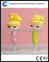 promotional bobble girl ball pen with yellow hair