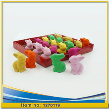 Ceramic decoration Fur coat candy colors of plush rabbit