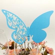 Promotion Beautifly Butterfly Shape Heart Design Laser Cut Wedding Place Card