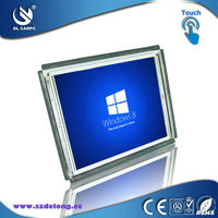 2013 New Arrival Iron 15 Inch Case Resistive Touch Screen HDMI LCD Open Frame Monitor