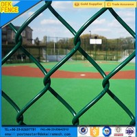 high quality green pvc coated chain link fence