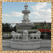Natural Stone Lion Large Outdoor Garden Marble Fountain
