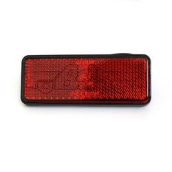 BL-001CR Hot sale 12V Rectangle Motorcycle red reflectors