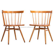 George Nakashima Chairs /ash wood pair of straight chairs/hot sale dining chair