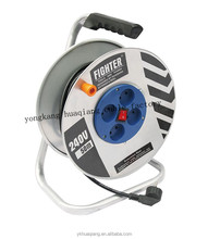 steel cable reel with switch