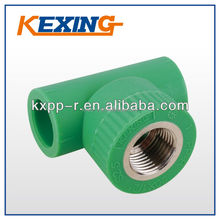 PP-R female thread tee, Pipe factory, coupling, fittings, valve, mould, elbow, male, female thread