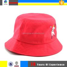 hot sale red cotton bucket hat supplier