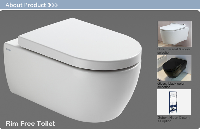 CT2039 Wall Toilet Sanitary Clean Sense Of Style