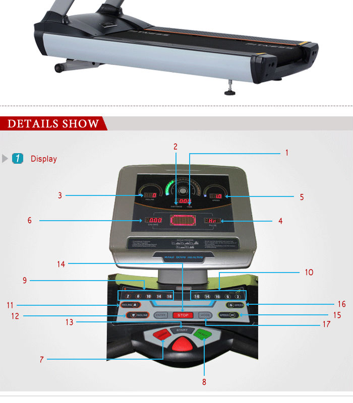 BCT 14 Commercial treadmill fitness supplier