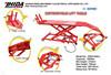 1000LB Brand New Air Hydraulic Motorcycle Lift Bike Platform table
