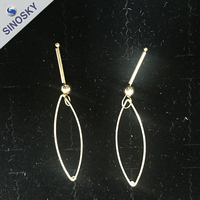 Latest Fashion Design Women Beautiful Bow Korea Style Self Piercing Hoop Earrings