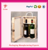 customized gift box luxury packaging boxes wooden wine carrier wine box